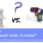 Clicker oder Markerwort als Markersignal